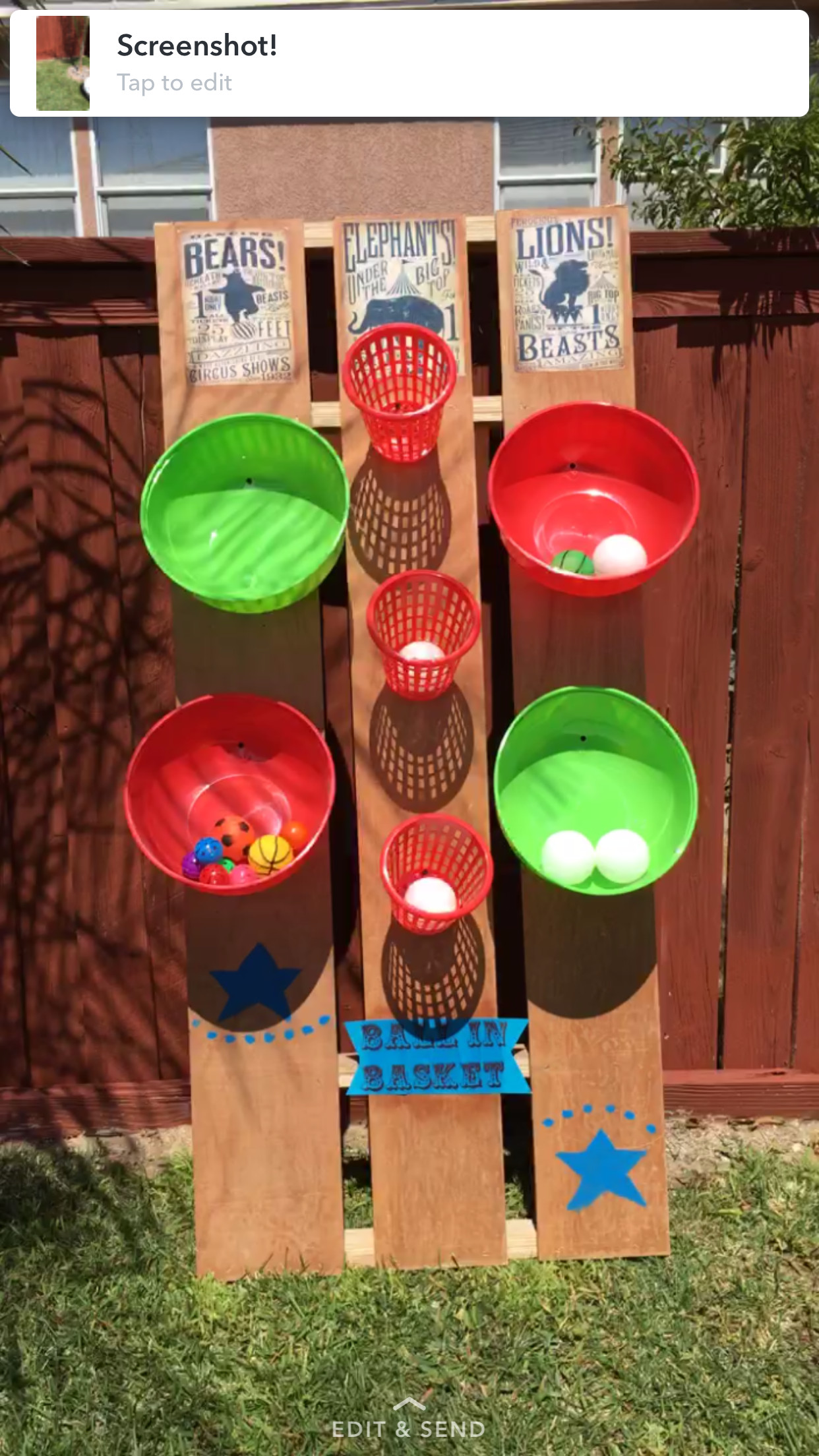 Best ideas about DIY Kids Carnival Games . Save or Pin DIY Carnival Game ball in basket circus 1st birthday Now.