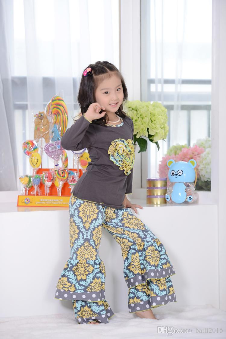 Best ideas about DIY Kids Clothing . Save or Pin 2018 Orange Fall Clothing Set Cotton Kids Girls Clothes Now.