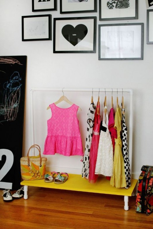 Best ideas about DIY Kids Clothing . Save or Pin Bright And Convenient DIY Kids Clothes Rack Now.