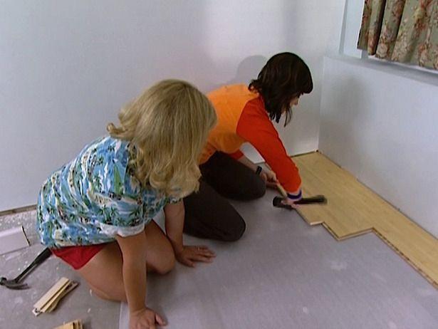 Best ideas about DIY Laminate Floor Installation . Save or Pin Laminate Flooring Install Laminate Flooring Diy Network Now.