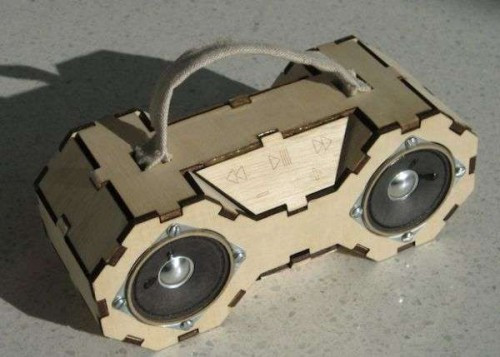 Best ideas about DIY Laser Cutter Plywood . Save or Pin DIY Eco Boombox Made Laser Cut Plywood Now.