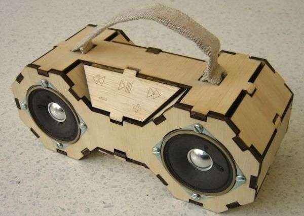 Best ideas about DIY Laser Cutter Plywood . Save or Pin Plywood Boombox Looks Like a TIE Fighter Technabob Now.