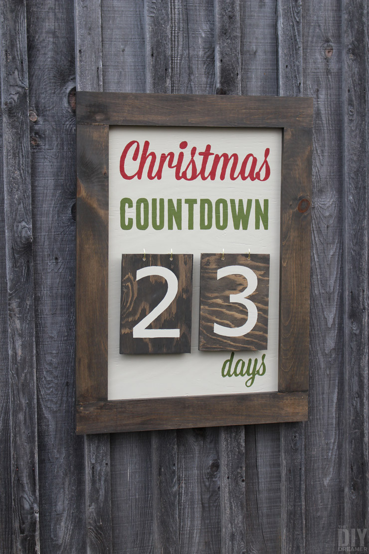 Best ideas about DIY Outdoor Sign . Save or Pin Outdoor Christmas Countdown Marquee Sign Now.