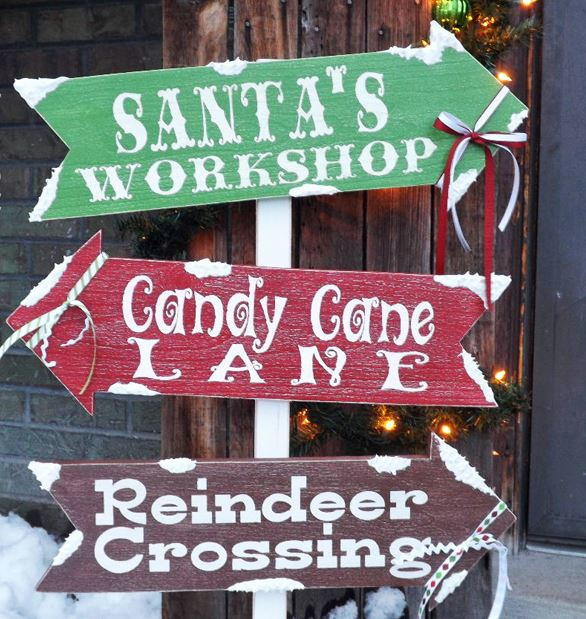 Best ideas about DIY Outdoor Sign . Save or Pin Santa s Village DIY Outdoor Sign Now.