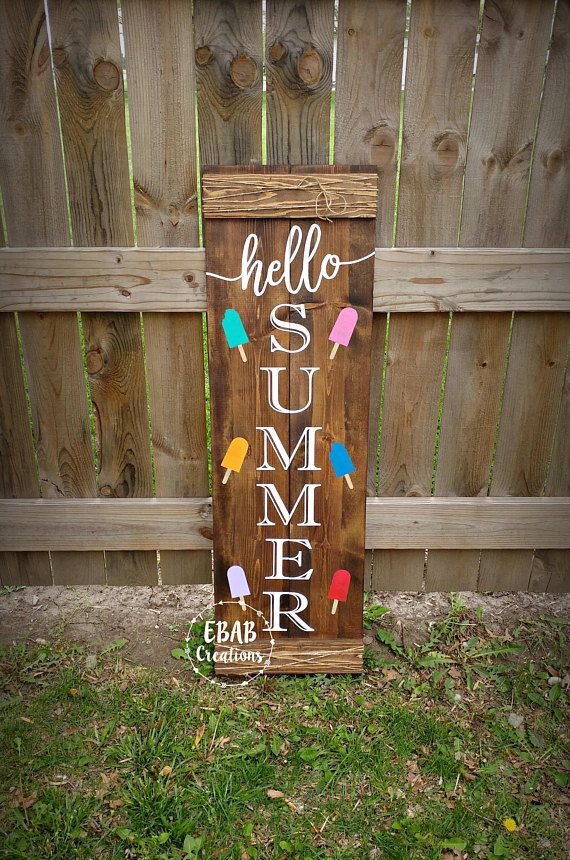 Best ideas about DIY Outdoor Sign . Save or Pin Best 25 Hello summer ideas on Pinterest Now.