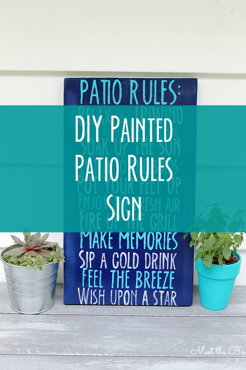 Best ideas about DIY Outdoor Sign . Save or Pin DIY Patio Rules Wooden Sign Now.