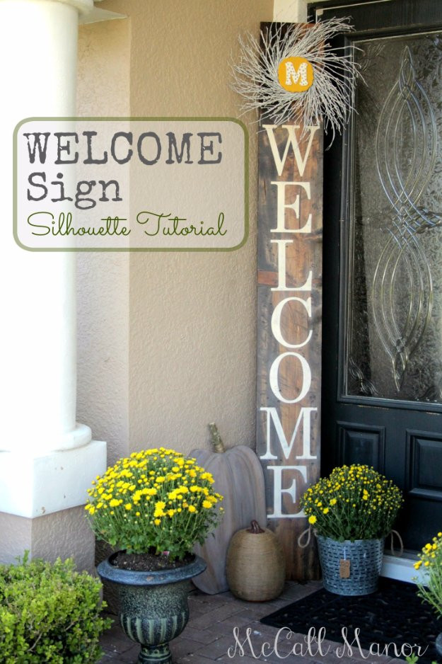 Best ideas about DIY Outdoor Sign . Save or Pin 43 DIY Patio and Porch Decor Ideas Now.