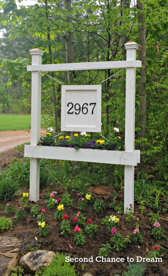Best ideas about DIY Outdoor Sign . Save or Pin Creative DIY house number ideas Now.