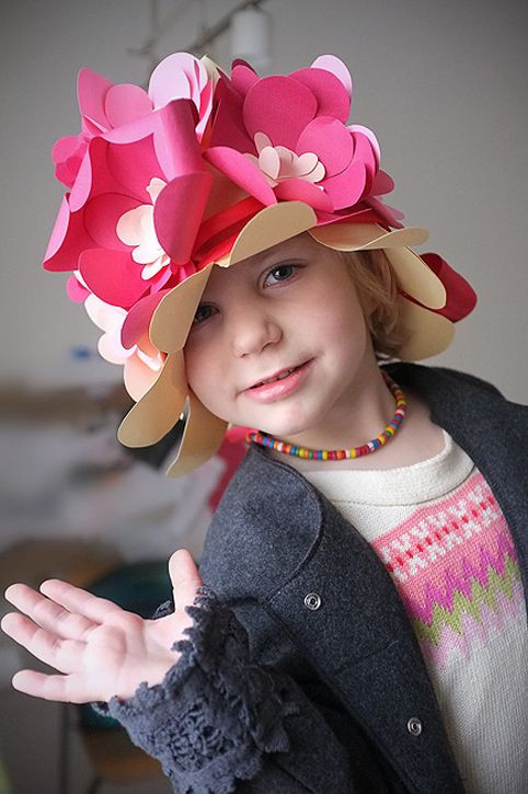 Best ideas about DIY Party Hats For Adults . Save or Pin Fun DIY Floral Paper Hat for Kids from Handmade Charlotte Now.