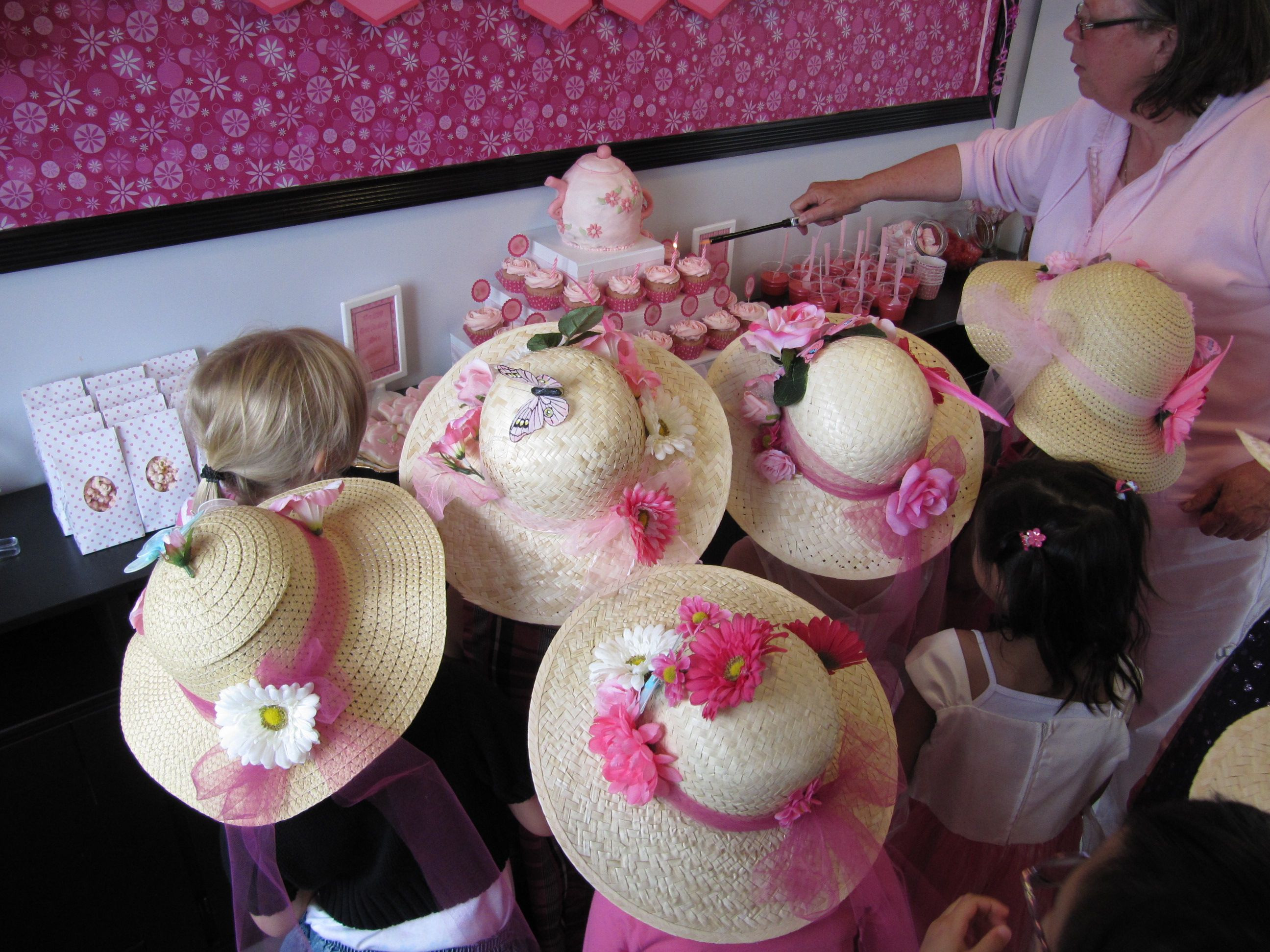 Best ideas about DIY Party Hats For Adults . Save or Pin fake flowers glue gun = cute DIY tea party hats Now.