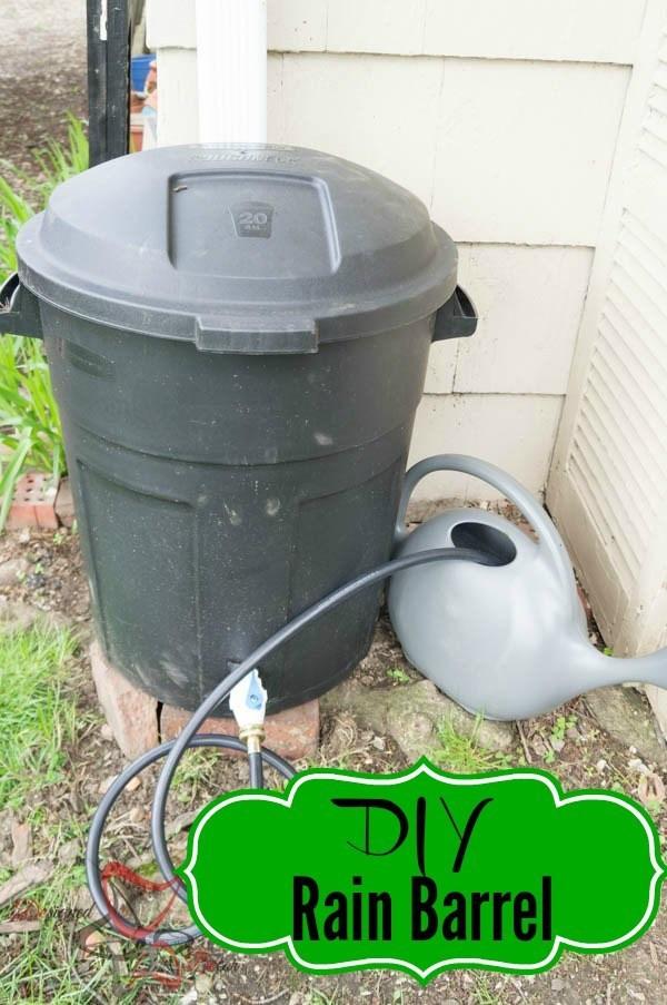 Best ideas about DIY Rain Barrel Kit . Save or Pin DIY Rain Barrel Tutorial Designed Decor Now.