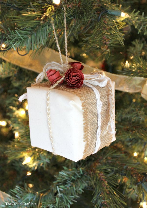 Best ideas about DIY Rustic Christmas Ornaments . Save or Pin Rustic Present Ornament Now.