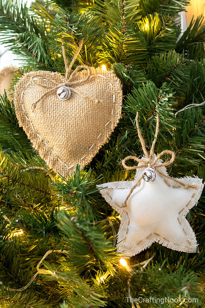 Best ideas about DIY Rustic Christmas Ornaments . Save or Pin DIY Rustic Burlap Christmas Ornaments with Video Tutorial Now.