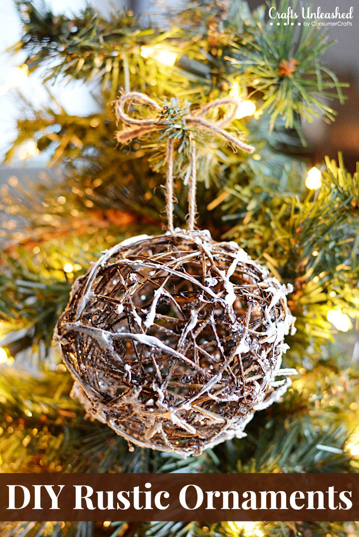 Best ideas about DIY Rustic Christmas Ornaments . Save or Pin Rustic Christmas Ornaments DIY Glittery Grapevine Balls Now.