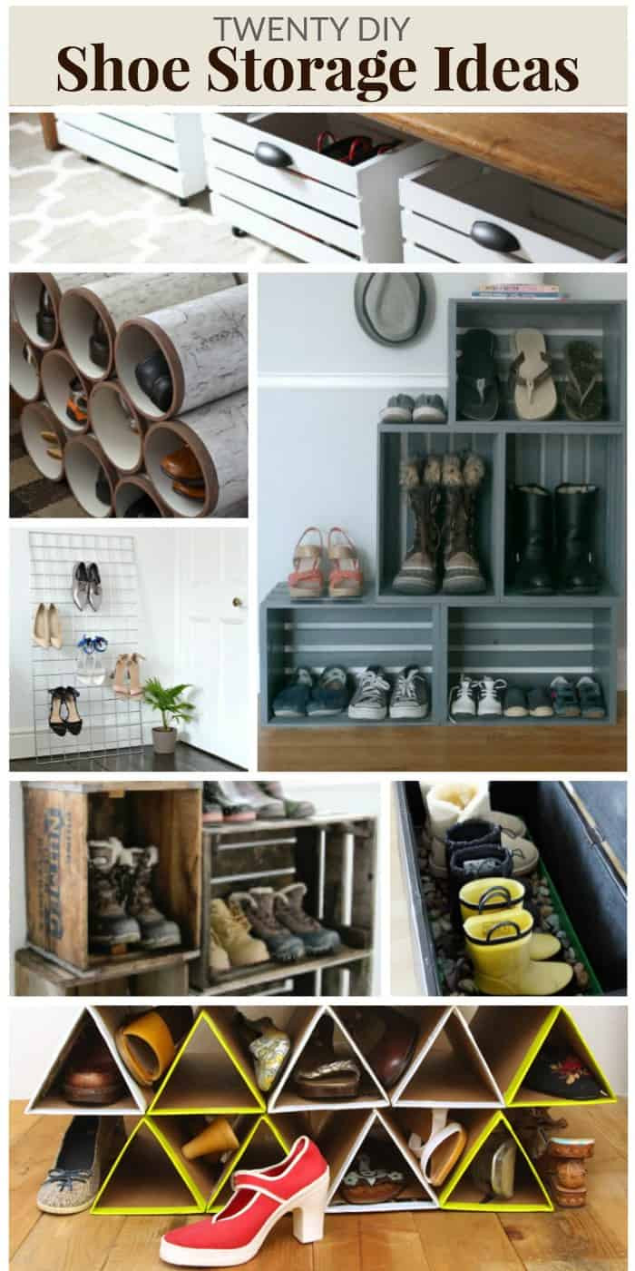Best ideas about DIY Shoes Rack Ideas . Save or Pin 20 DIY SHOE STORAGE IDEAS Now.