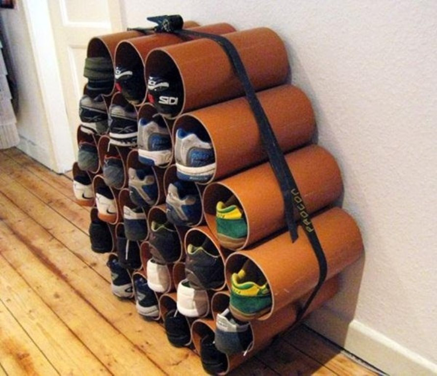 Best ideas about DIY Shoes Rack Ideas . Save or Pin furniture Impressive PVC Shoe Rack DIY Ideas and Trend Now.