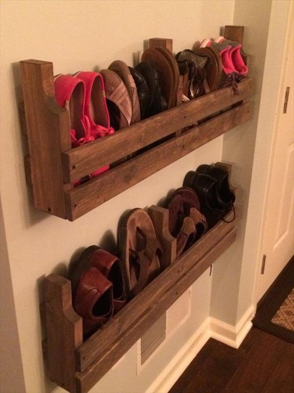 Best ideas about DIY Shoes Rack Ideas . Save or Pin The Best DIY Pallet Shoe Rack Ideas Now.