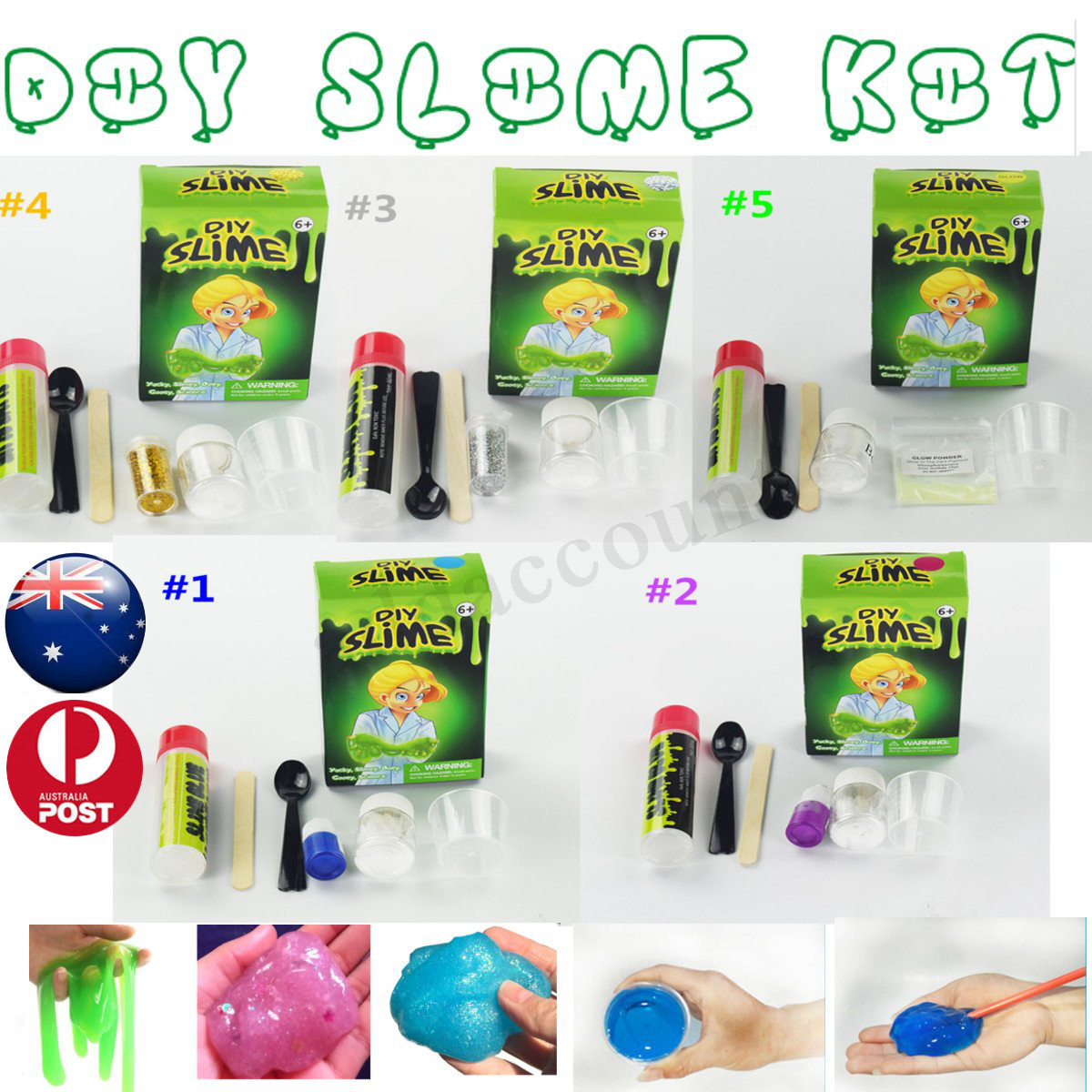 Best ideas about DIY Slime Kit . Save or Pin Set of 5 MAKE YOUR OWN DIY SLIME KIT SCIENCE GLOW DARK Now.