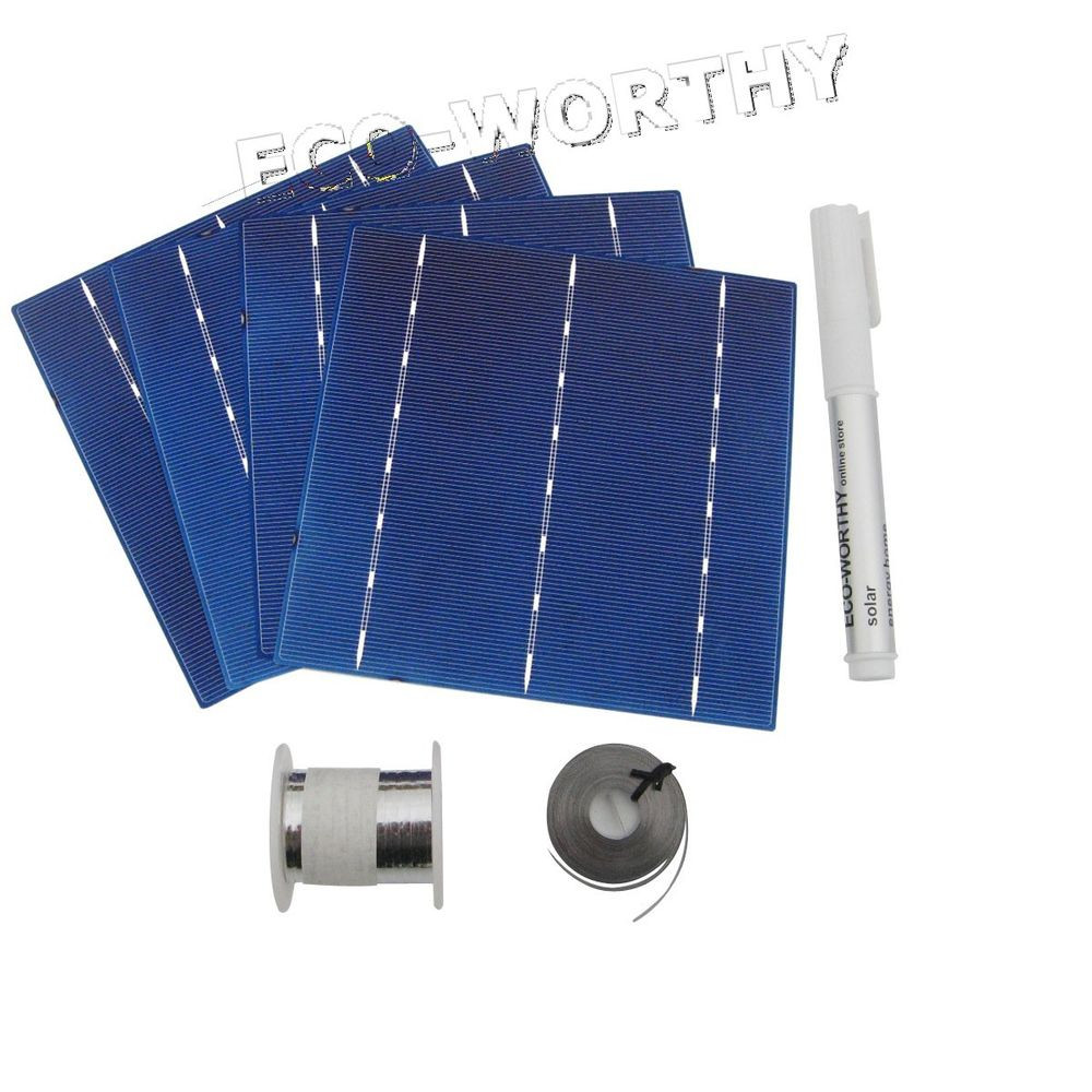 Best ideas about DIY Solar Panels Kit . Save or Pin DIY 100W Solar Panel 25pcs 6x6 Solar Cells Kit w Tab Bus Now.