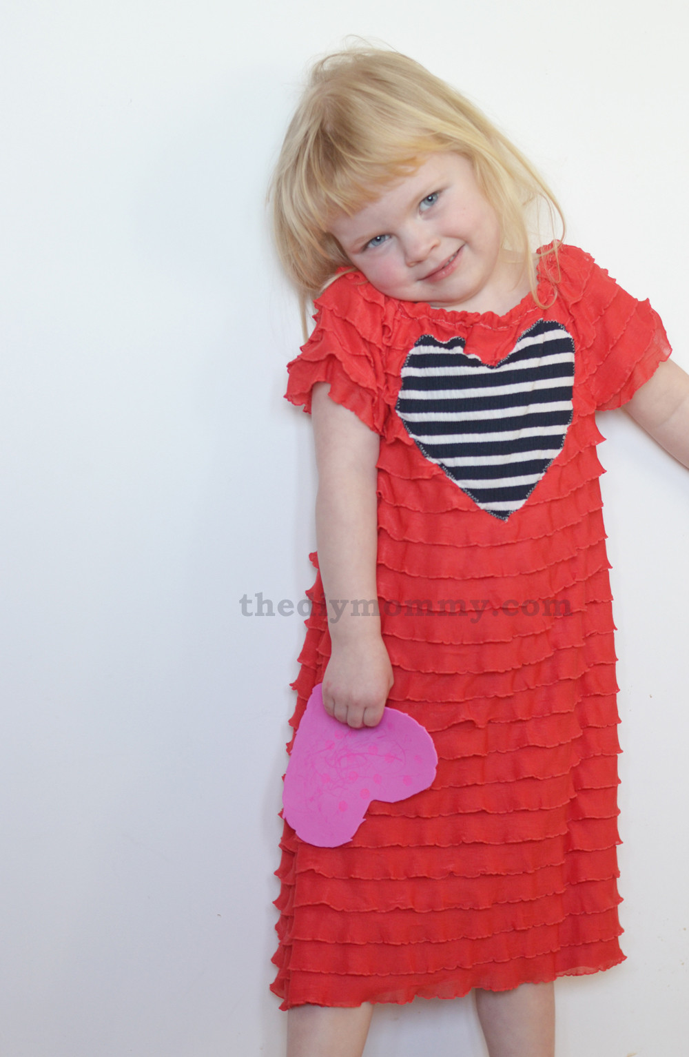Best ideas about DIY Toddler Dress . Save or Pin Sew an Easy Valentine Dress with Ruffle Fabric Now.