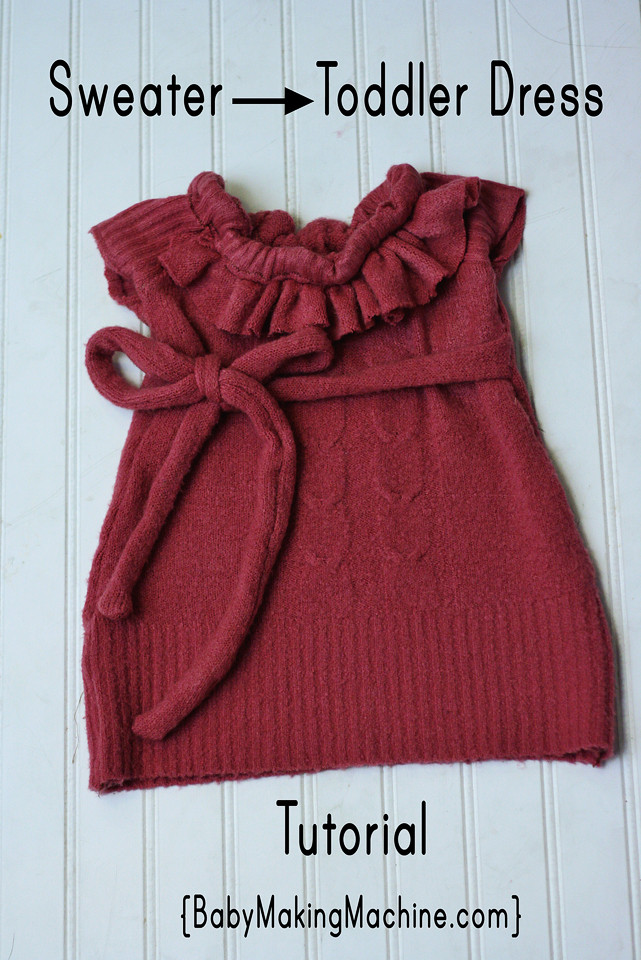 Best ideas about DIY Toddler Dress . Save or Pin DIY Toddler Sweater to Dress Tutorial with Ties What I m Now.