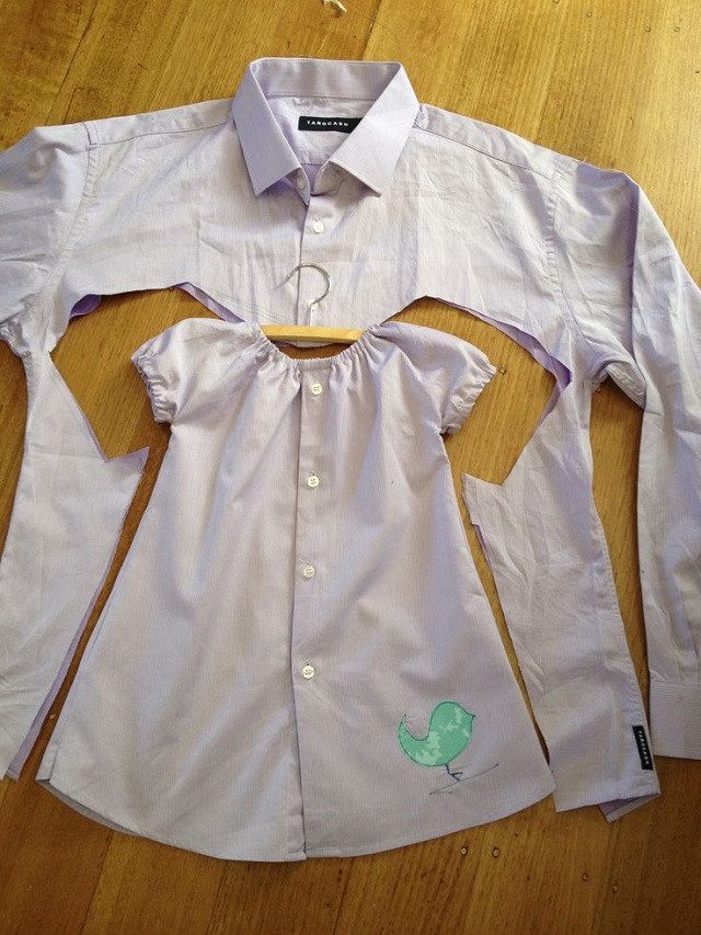 Best ideas about DIY Toddler Dress . Save or Pin Baby Girl Dress Upcycled from Men s Shirt DIY AllDayChic Now.
