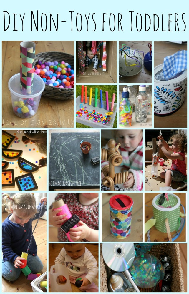 Best ideas about DIY Toddler Toy . Save or Pin 15 DIY Non Toys for Toddlers The Imagination Tree Now.