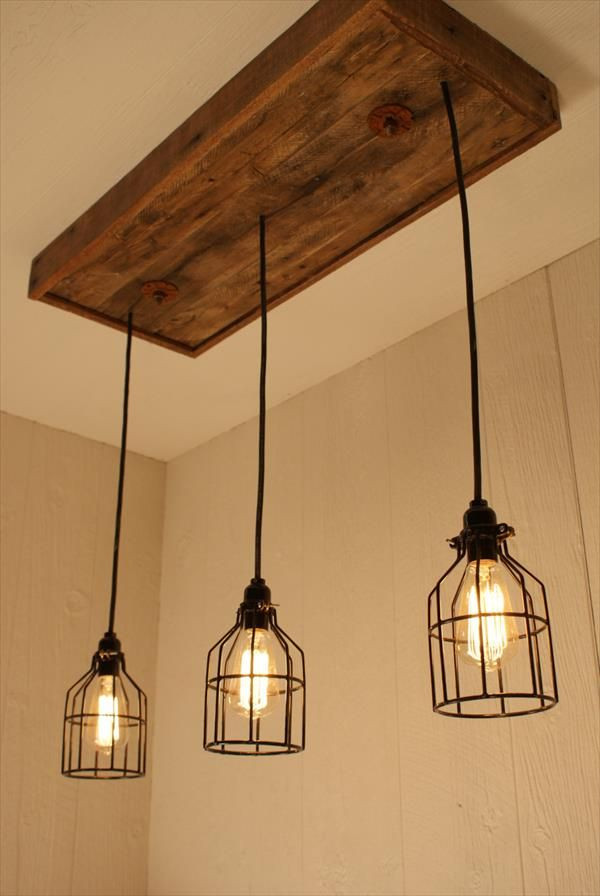 Best ideas about DIY Track Lighting . Save or Pin DIY Pallet Bulbs Chandelier Pallet Furniture DIY Now.