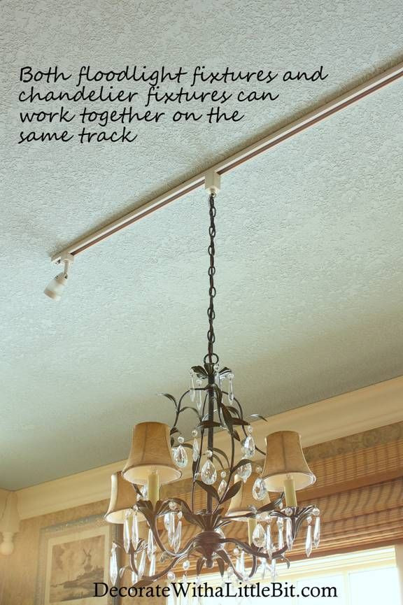 Best ideas about DIY Track Lighting . Save or Pin Chandelier hanging from track lighting fixture with Now.