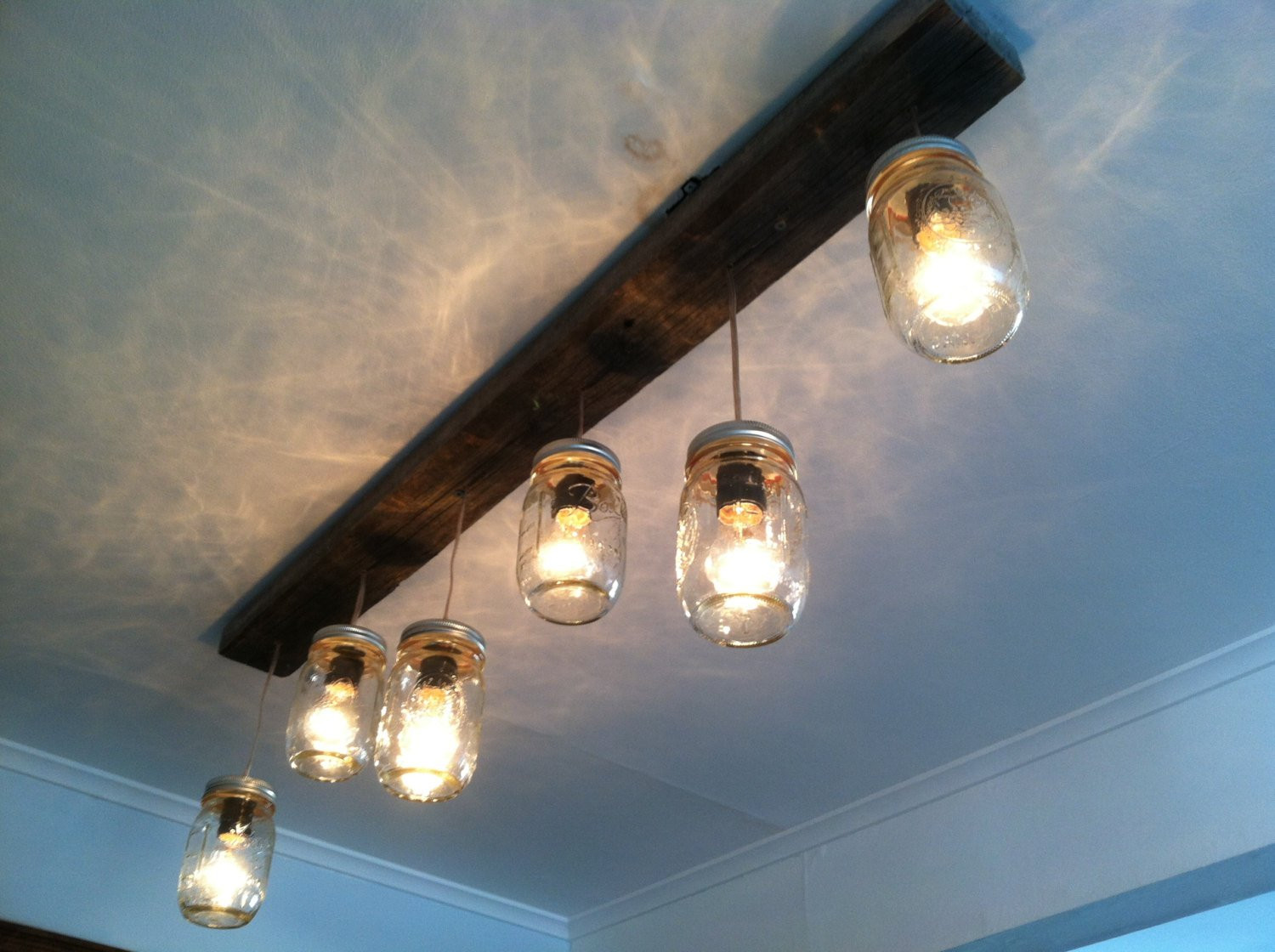 Best ideas about DIY Track Lighting . Save or Pin Mason Jar and Wood Track Lighting by LengaresDesign on Etsy Now.
