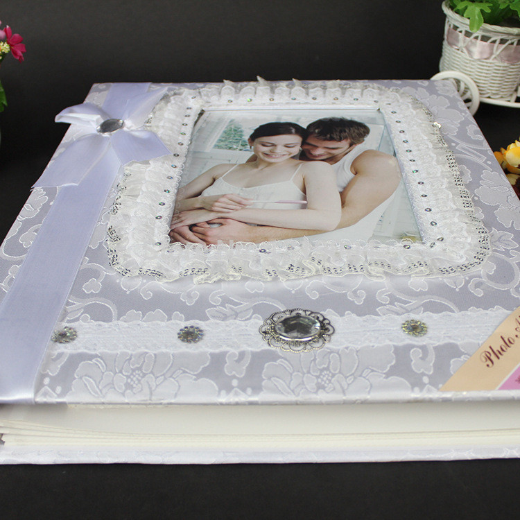 Best ideas about DIY Wedding Album . Save or Pin Wholeasale High quality wedding veil white photo album for Now.