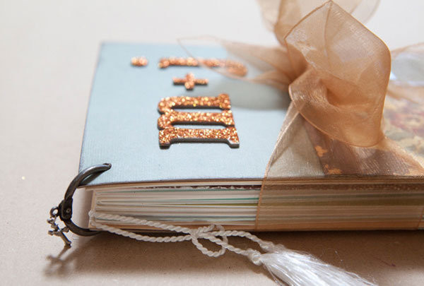 Best ideas about DIY Wedding Album . Save or Pin DIY We Love Wedding Card Mini Album Now.