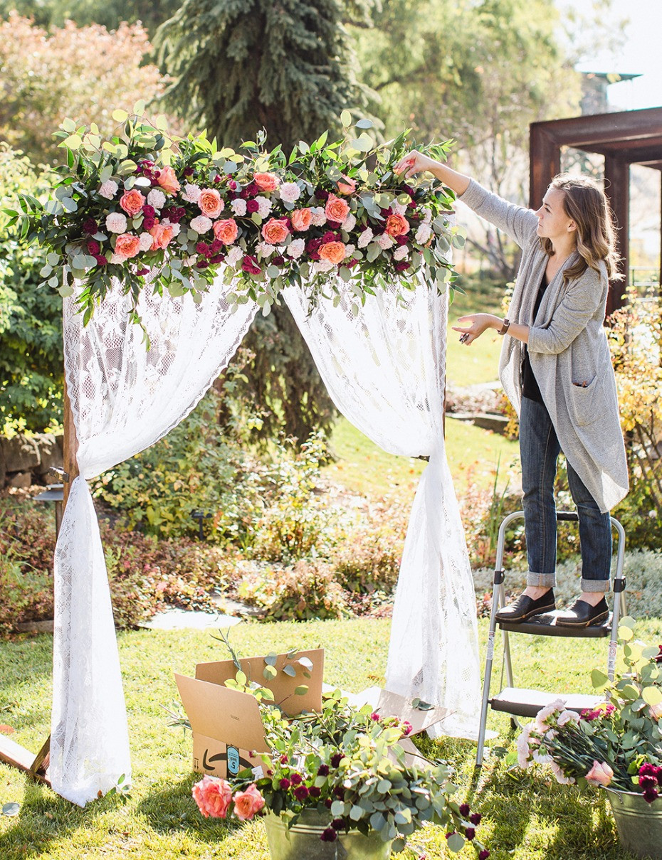 Best ideas about DIY Wedding Arbor . Save or Pin DIY Wedding Arbor From FiftyFlowers Now.