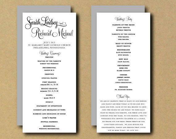 Best ideas about DIY Wedding Programs Template . Save or Pin Best 25 Wedding program templates ideas on Pinterest Now.