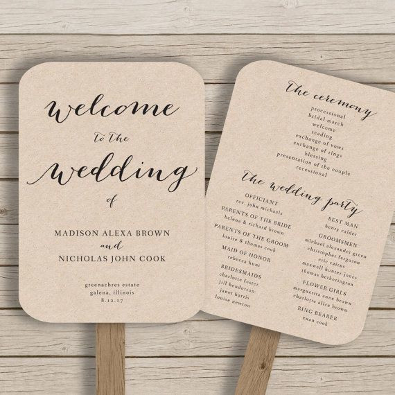 Best ideas about DIY Wedding Programs Template . Save or Pin Diy Wedding Program Fans Template Templates Resume Now.
