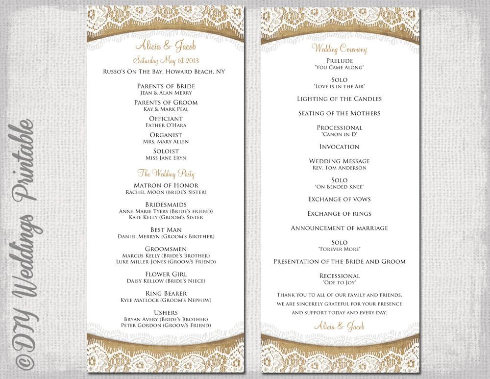 Best ideas about DIY Wedding Programs Template . Save or Pin Diy Wedding Program Template Now.
