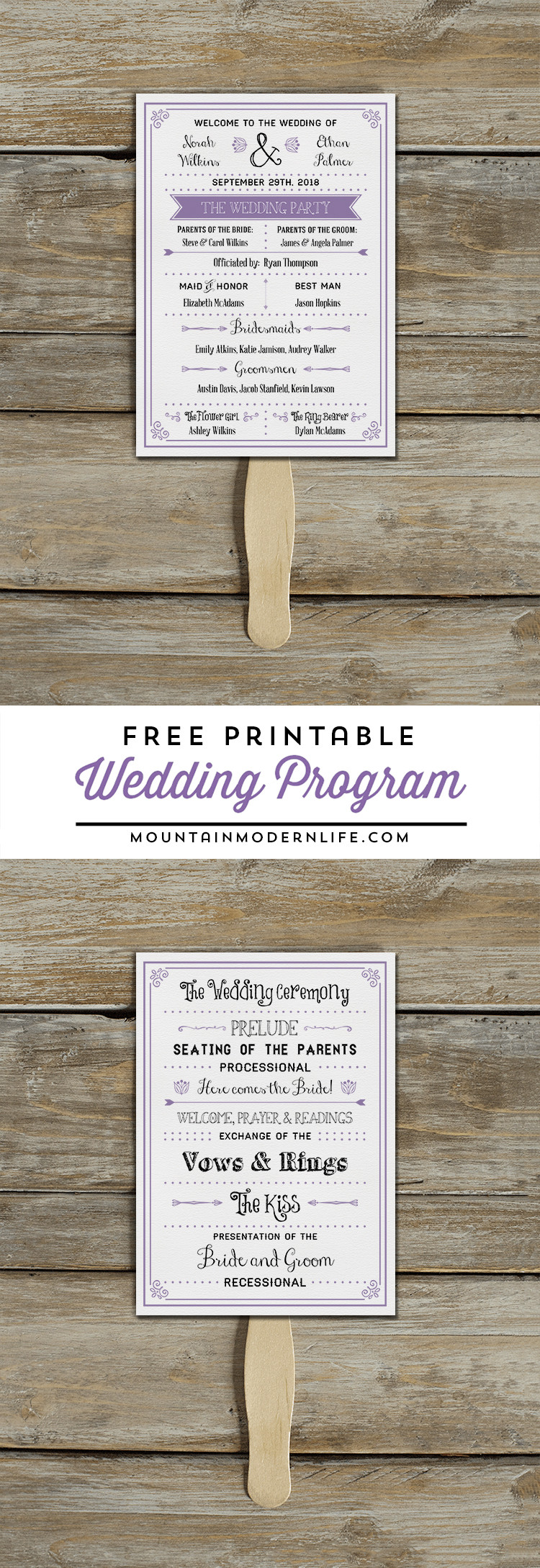 Best ideas about DIY Wedding Programs Template . Save or Pin FREE Printable Wedding Program Now.