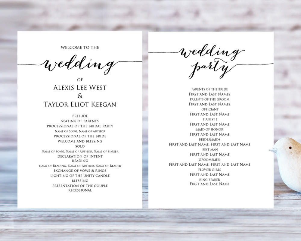 Best ideas about DIY Wedding Programs Template . Save or Pin Wedding Program Templates · Wedding Templates and Printables Now.