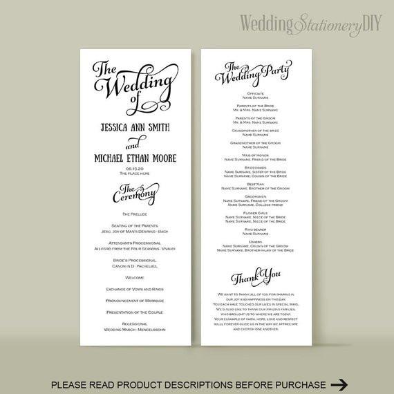 Best ideas about DIY Wedding Programs Template . Save or Pin Wedding program diy Wedding program templates Reception Now.