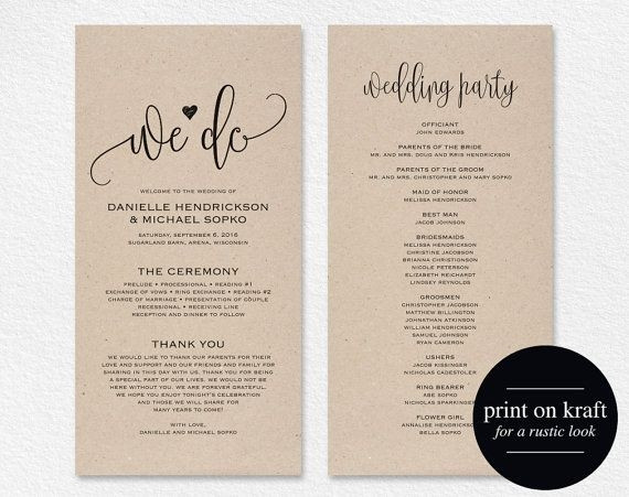 Best ideas about DIY Wedding Programs Template . Save or Pin Diy Wedding Programs Template Invitation Template Now.
