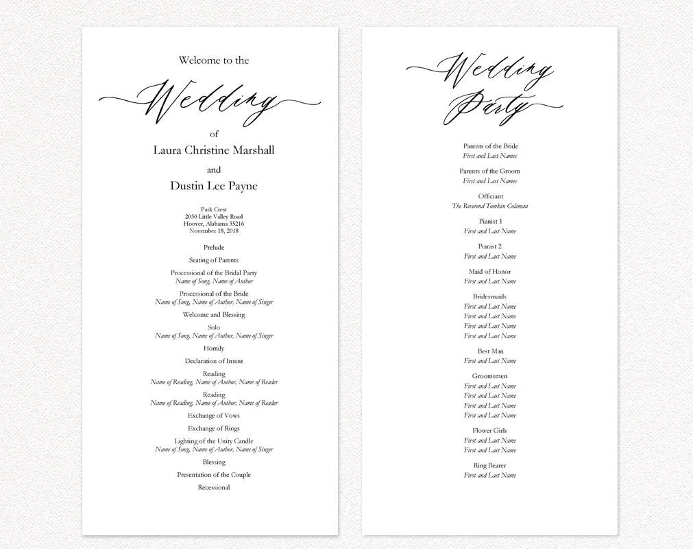 Best ideas about DIY Wedding Programs Template . Save or Pin Wedding Ceremony Programs · Wedding Templates and Printables Now.