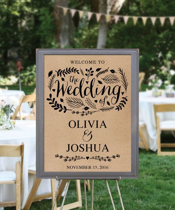 Best ideas about DIY Wedding Welcome Sign . Save or Pin DIY Printable Rustic Wedding Wel e Sign DIY rustic Now.