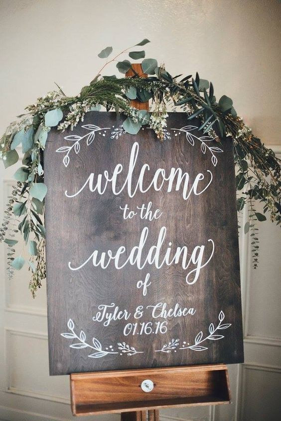 Best ideas about DIY Wedding Welcome Sign . Save or Pin DIY Wedding Ideas for Brides Who Love Lettering mywedding Now.