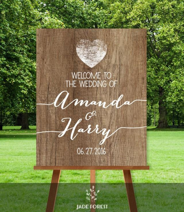 Best ideas about DIY Wedding Welcome Sign . Save or Pin Rustic Wedding Wel e Sign DIY Wel e To Our Wedding Now.