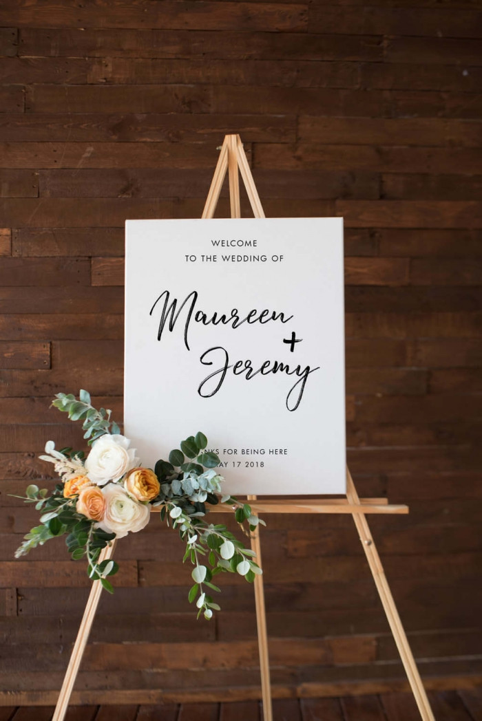 Best ideas about DIY Wedding Welcome Sign . Save or Pin 10 Fabulous Wedding Signs Now.