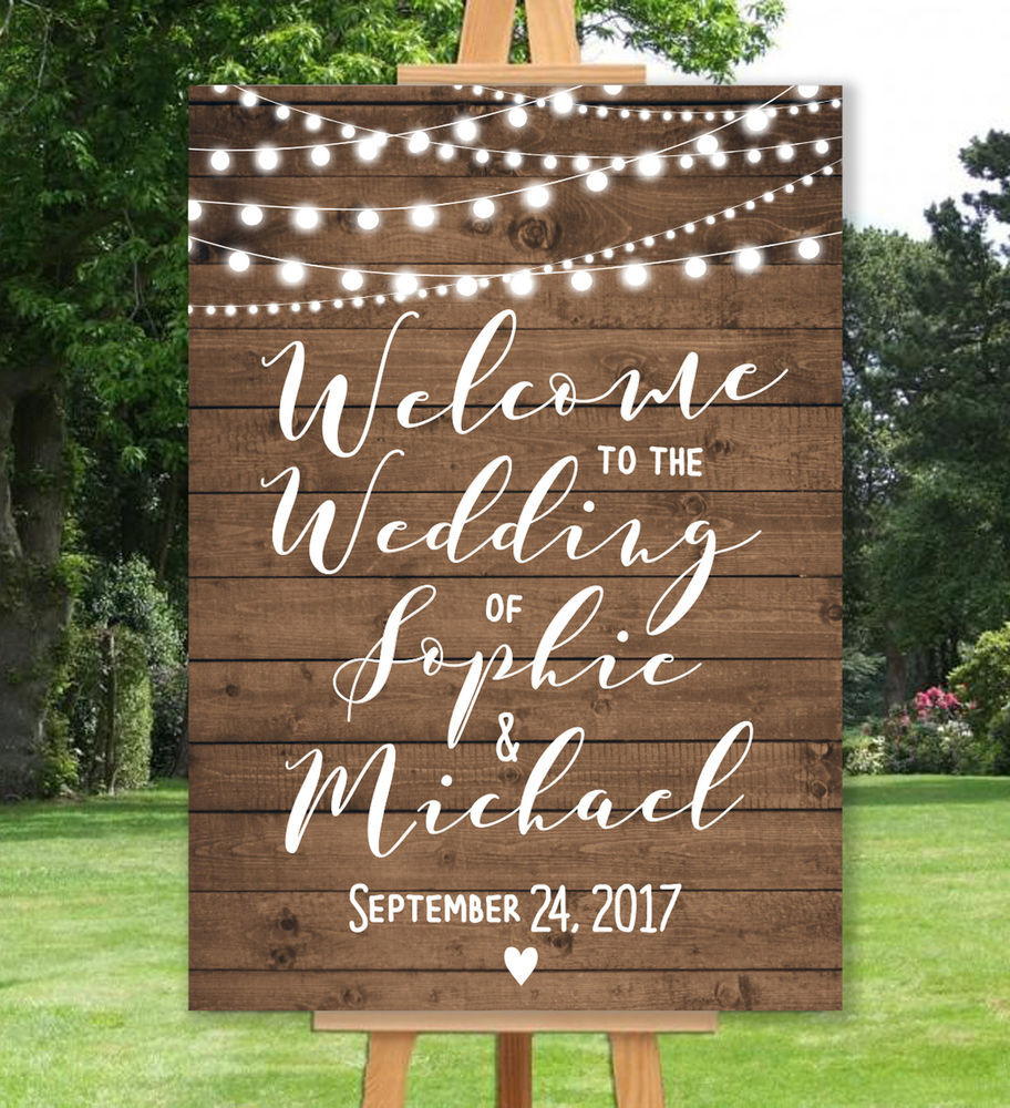 Best ideas about DIY Wedding Welcome Sign . Save or Pin PERSONALISED WEL E WEDDING SIGN UN BACKED A3 A2 A1 Now.