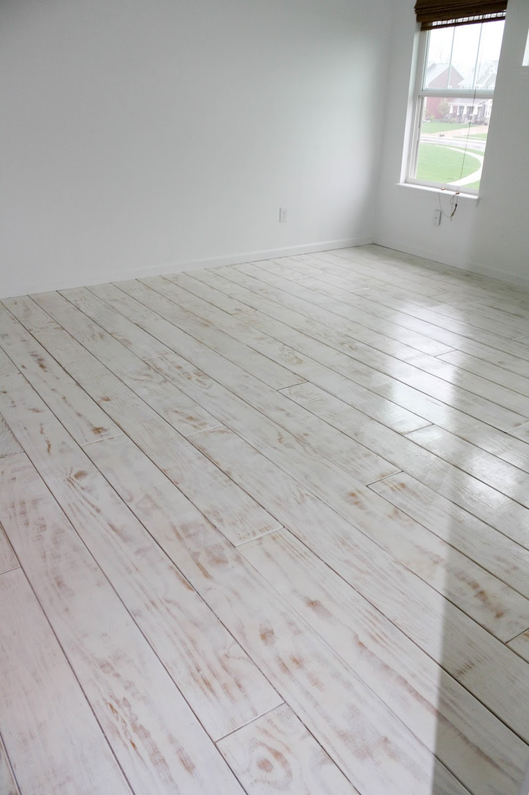 Best ideas about DIY Whitewash Wood . Save or Pin DIY PLANKED FLOORS Now.