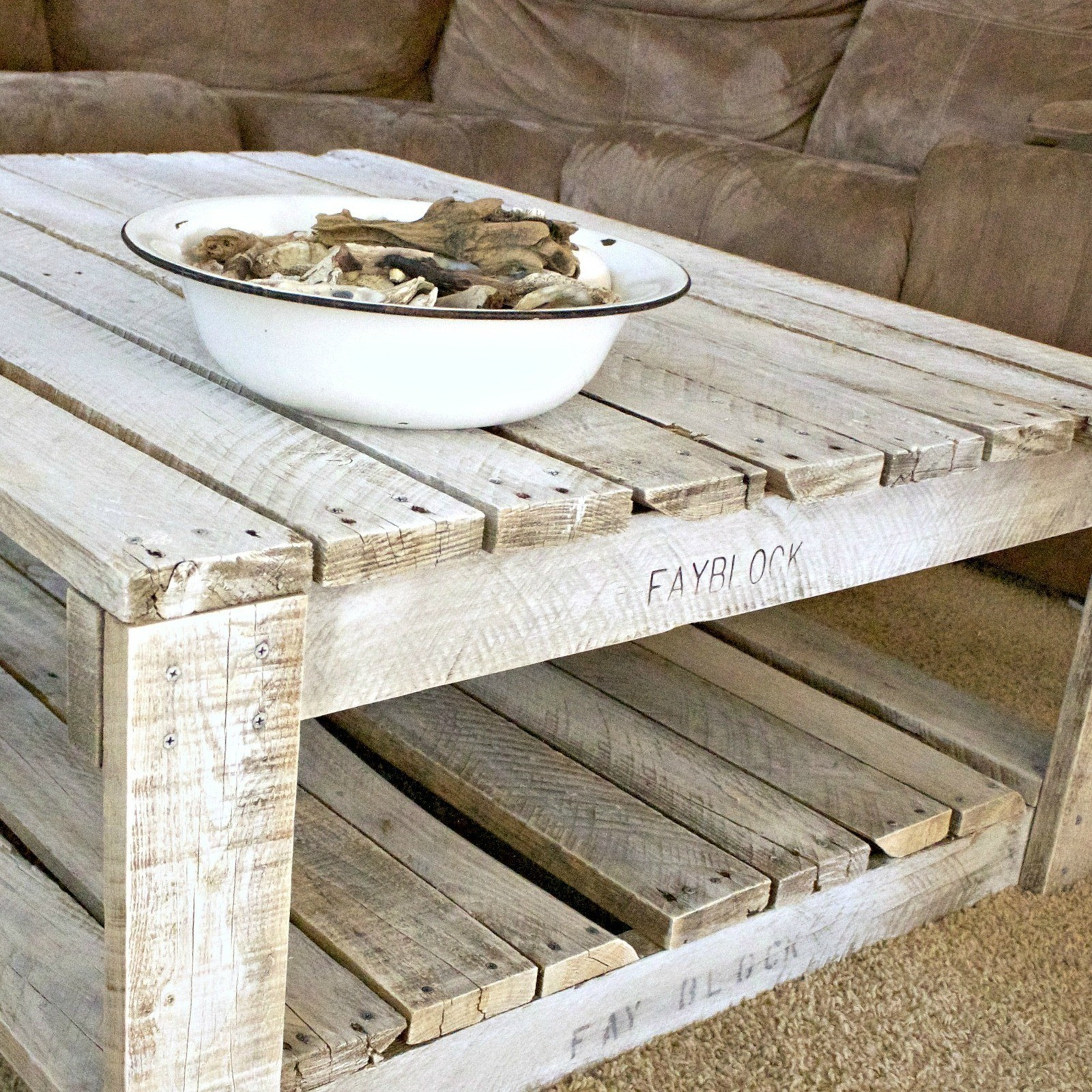 Best ideas about DIY Whitewash Wood . Save or Pin Whitewash A Pallet Table · How To Make A Pallet Table Now.