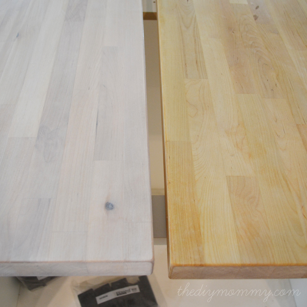 Best ideas about DIY Whitewash Wood . Save or Pin Whitewash and Seal a Butcher Block Counter Top Now.