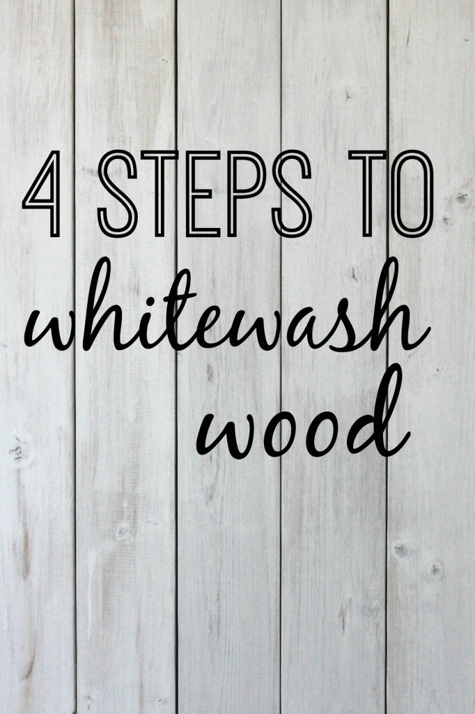 Best ideas about DIY Whitewash Wood . Save or Pin 4 Steps to Whitewash Wood Now.